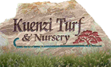kuenzi turf nursery sign